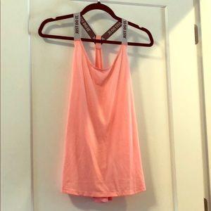 Large Women's pink nike thin strap workout shirt